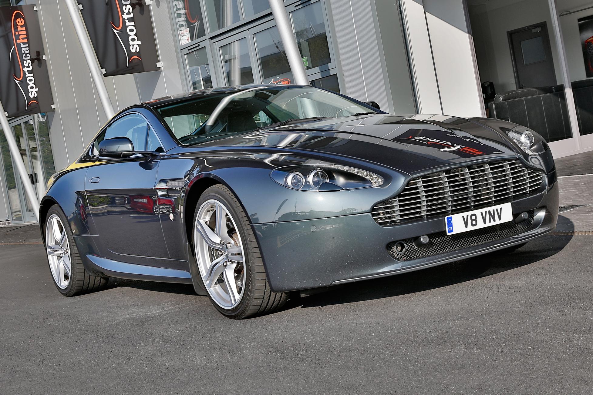 Aston Martin Vantage 4.7 hire from Sportshire, Midlands