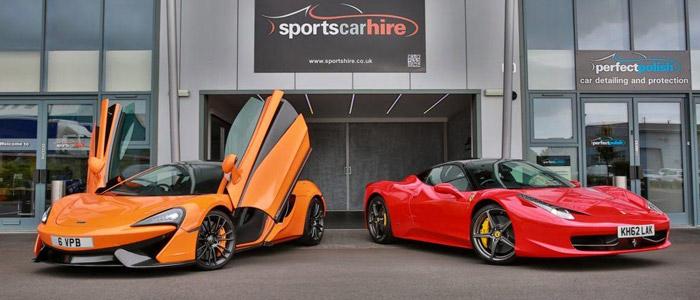 Ferrari & McLaren at Sportscarhire, West Midlands