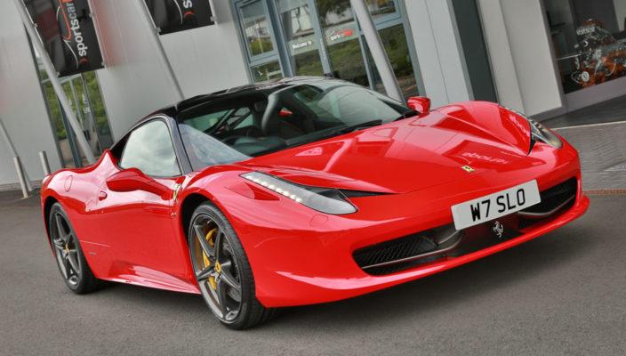 Ferrari 458 sports car hire
